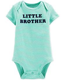 Baby Boys Cotton Little Brother Bodysuit
