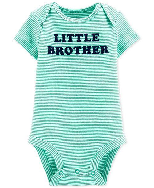 Carter's Baby Boys Cotton Little Brother Bodysuit