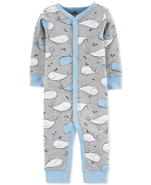 Carter's Baby Boys Footless Whale Sleep and Play