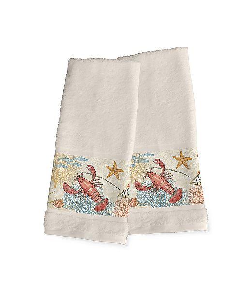 Laural Home Oceana 2-Pc. Hand Towel Set