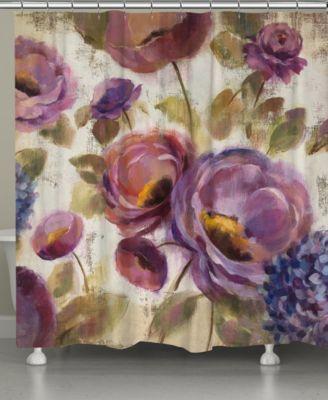 Purple Floral Garden Shower Curtain
