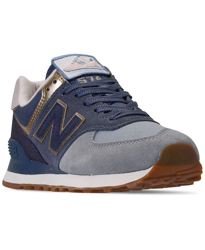 New Balance Women's 574 Metallic Casual Sneakers from Finish Line ...