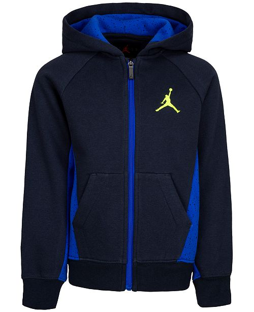 Jordan Little Boys Speckle Zip-Up Hoodie, Created For Macy's