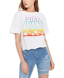 Mighty Fine Juniors' Star Wars Graphic Print Cotton T-Shirt