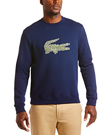 "Men's Brushed Molleton Interlock Croc ""Christmas"" Logo Sweater"