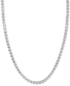 "EFFY® Men's Box Link 22"" Chain Necklace in Sterling Silver"