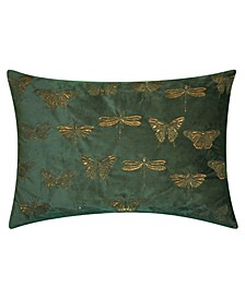 Metallic Butterfly Decorative Pillow