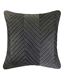 Edie @ Home Chevron Velvet Decorative Pillow