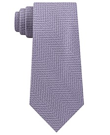 Men's Classic Abstract Textured Chevron Tie