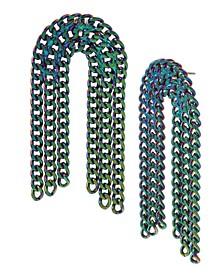 Rainbow Link Multi Chain Arch Earrings
