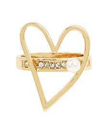 Pearl Open Heart Ring
