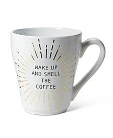 """Wake Up and Smell The Coffee"" Burst Ceramic Mug"
