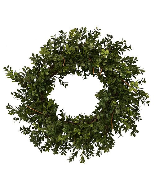 "Mills Floral 26"" D Artificial Boxwood Wreath"