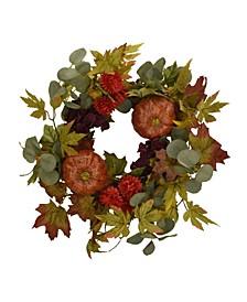 "20"" D Pumpkin and Spice Wreath"