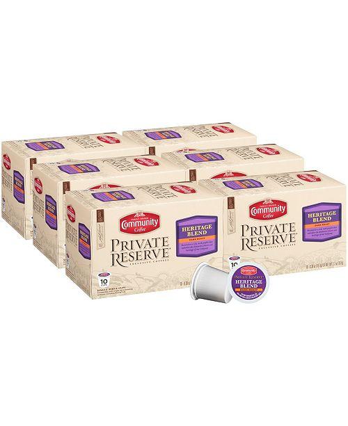 Community Coffee Private Reserve Heritage Blend Dark Roast Single Serve Pods, Keurig K-Cup Brewer Compatible, Pack of 60