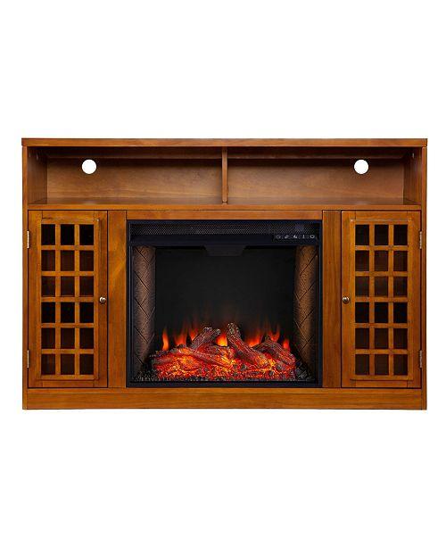 Southern Enterprises Branford Alexa-Enabled Media Fireplace with Storage