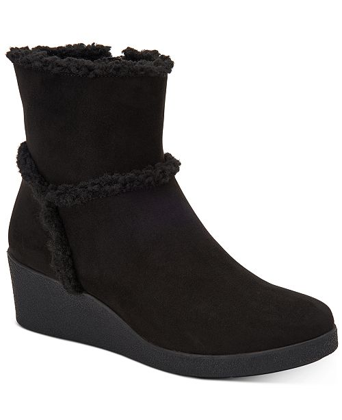 Style & Co Jordanyy Wedge Ankle Booties, Created for Macy's