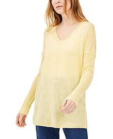 INC Ribbed Long-Sleeve Tunic Sweater, Created for Macy's