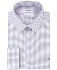 Men's Slim-Fit Gingham Dress Shirt