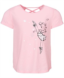 Little Girls Graphic-Print Cross-Back T-Shirt, Created for Macy's