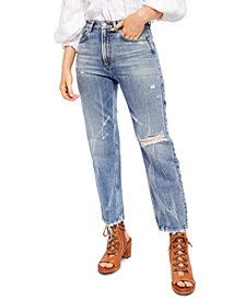 Free People Dakota Straight Leg High Rise Jeans