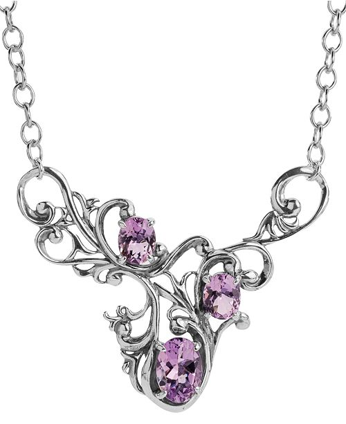 Carolyn Pollack  Amethyst (4-3/4 ct. t.w.)  Birthstone  Filigree Necklace  in Sterling Silver