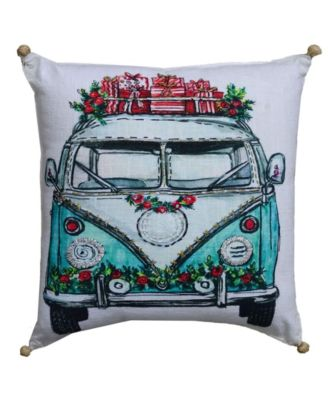 Christmas Holiday Van Pillow Cover