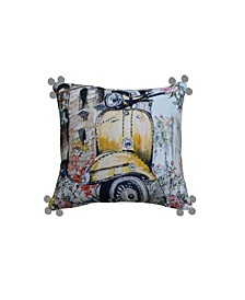 Old Vespa Pillow Cover