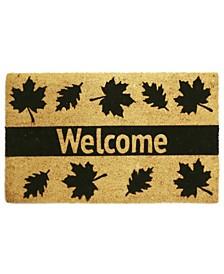Welcome Leaves Coir Door Mat