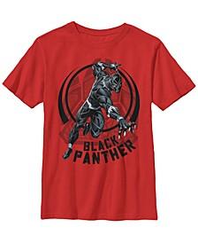 Marvel Big Boy's Black Panther King of Wakanda Paw Short Sleeve T-Shirt