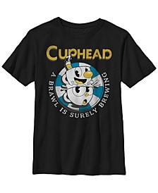 Cuphead Big Boys Mugman Poker Chip Brewing Brawl Short Sleeve T-Shirt