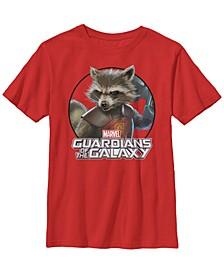 Marvel Big Boy's Rocket Guardians of The Galaxy Circle Short Sleeve T-Shirt