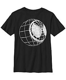 Marvel Big Boy's Spider-Man Far From Home Mask Globe Stencil Short Sleeve T-Shirt
