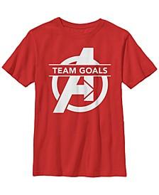 Marvel Big Boys Avengers Endgame Team Goals Logo Short Sleeve T-Shirt