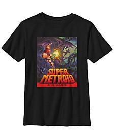 Nintendo Big Boy's Samus Super Metroid Cover Short Sleeve T-Shirt
