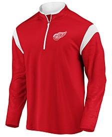Men's Detroit Red Wings Defender Half-Zip Pullover