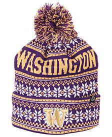 Washington Huskies Blitzen Pom Knit Hat