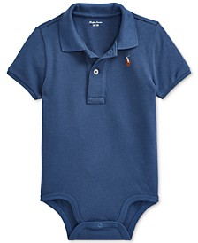 Baby Boys Cotton Mesh Polo Bodysuit