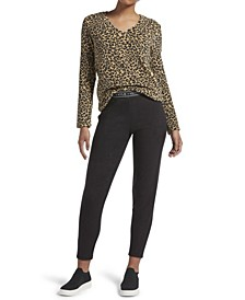Cheetah Leggings Lounge Set, Online Only