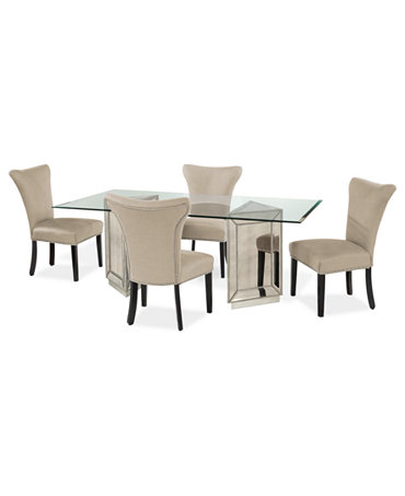 sophia dining room furniture 5 piece set 76 39 39 table and 4 side