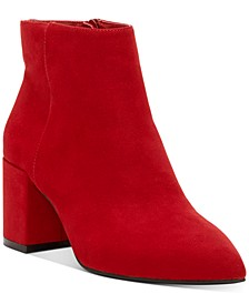 INC Women's Omira Pointed-Toe Block-Heel Booties, Created for Macy's