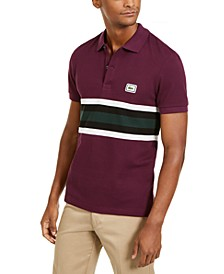 Bold Stripe Colorblocked Polo Shirt