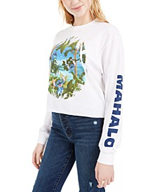 Juniors' Stitch Mahalo Long-Sleeved Graphic T-Shirt by Jerry Leigh