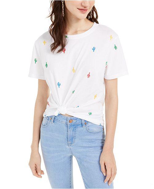 Rebellious One Juniors' Cactus T-Shirt