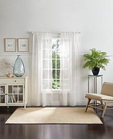 "Martha Stewart Montauk Clip Sheer 95"" Poletop Curtain Panels"