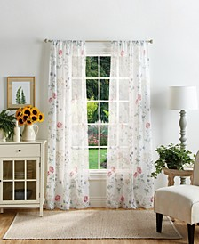 "Martha Stewart Martha's Garden 37"" x 84"" Sheer Curtain Set"