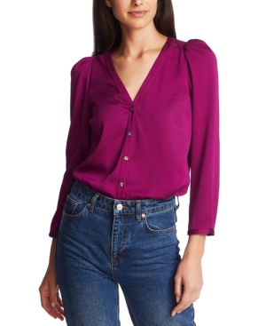 Image of 1.state 3/4-Sleeve Puffed-Shoulder Top