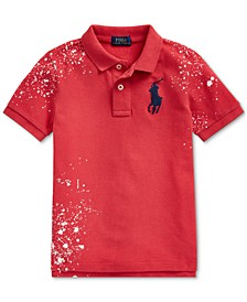 Toddler Boys Distressed Cotton Mesh Polo Shirt