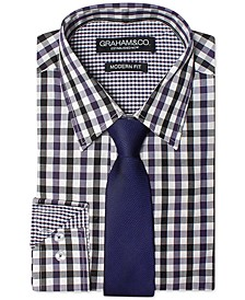 Men's Modern-Fit Shirt & Tie