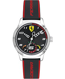 Kids Pitlane Black Silicone Strap Watch 34mm